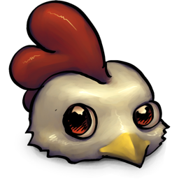 Cute Little Low Res Chicken Icon