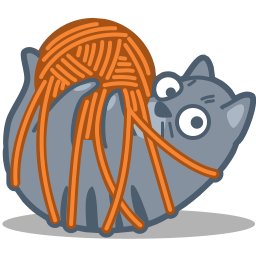 Cat Tied Vector Icons Free Download In Svg Png Format