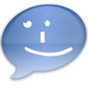 iChat Aqua Smile Icon