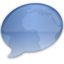 iChat Aqua World Icon