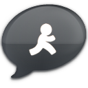 iChat Black AIM Icon