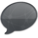 iChat Black Network Icon