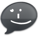 iChat Black Smile Icon