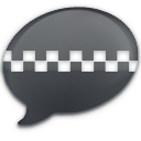 iChat Black Taxi Icon