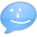 iChat Blue Smile Icon