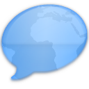 iChat Blue World Icon