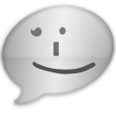 iChat Dark Smile Icon