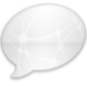 iChat Milk Black Network Icon