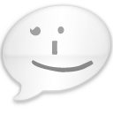 iChat Milk Black Smile Icon