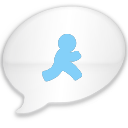 iChat Milk Blue AIM Icon