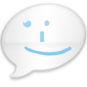 iChat Milk Blue Smile Icon
