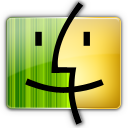 Finder gray yellow Icon