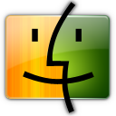 Finder orange green Icon