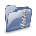 Folder Dossier Zip SZ Icon