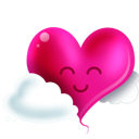 Heart and clouds Icon