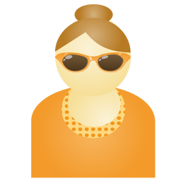 Sunglass woman orange Icon