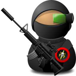 Sniper Soldier with Weapon Icon