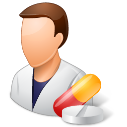 Medical Pharmacist Male Light Icon