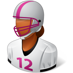 Sport Football Player Female Dark Icon
