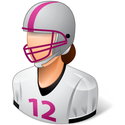 Sport Football Player Female Light Vector Icons Free Download In Svg Png Format