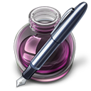 Pink w original pen Icon