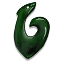 Greenstone Fish Hook Icon