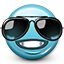 Emoticon Cool Sunglasses Icon
