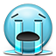 Emoticon Crying Tears River Icon