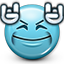 Emoticon Devil Horns Music Rock Rocking Icon