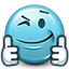 Emoticon Like Liked Support Thumbs Icon
