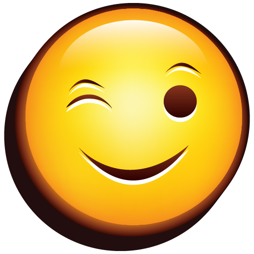 Emoji Wink icon free download as PNG and ICO formats ...