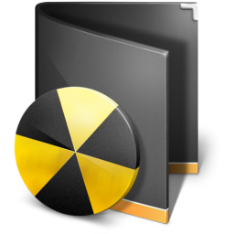 Burn Folder Black Icon