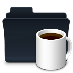 Coffee Folder Badged Icon