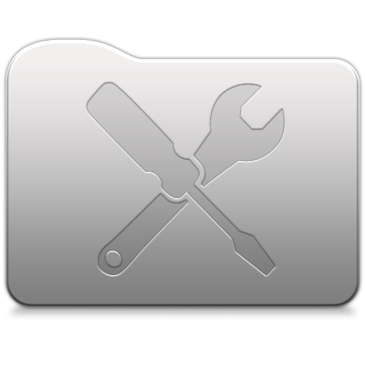 Aluminum folder   Utilities Icon