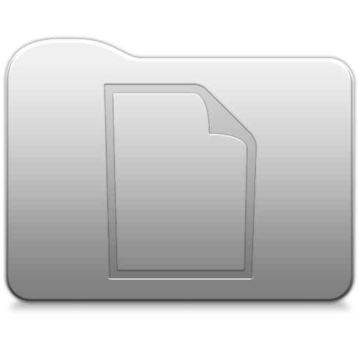 Aluminum folder   document Icon