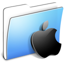 Aqua Smooth Folder Apple Icon