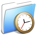Aqua Smooth Folder Clock Icon