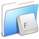 Aqua Smooth Folder Fonts Icon