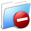 Aqua Smooth Folder Private Icon