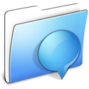 Aqua Smooth Folder iChats Icon