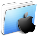 Aqua Stripped Folder Apple Icon