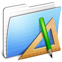 Aqua Stripped Folder Applications Icon