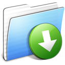Aqua Stripped Folder DropBox Icon