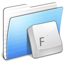 Aqua Stripped Folder Fonts Icon
