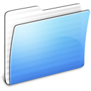 Aqua Stripped Folder Generic Icon