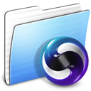 Aqua Stripped Folder Themes Icon