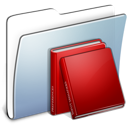 Graphite Smooth Folder Library Icon