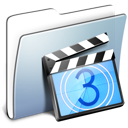 Graphite Smooth Folder Movies Icon
