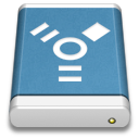 Blue External Drive FireWire Icon
