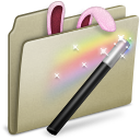 Lightbrown Magic Bunny Icon